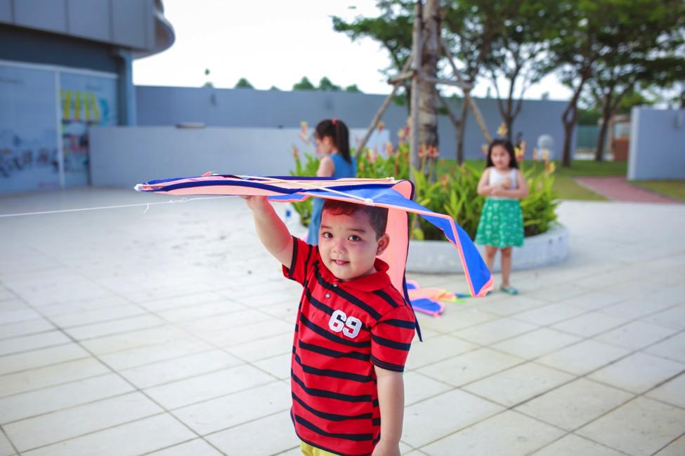 hikariで凧揚げイベント